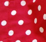 Rot mit großen Punkten